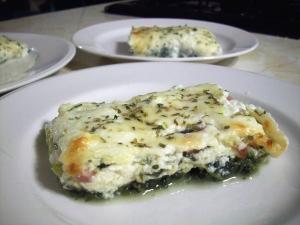 Ham and Spinach Pesto Lasagna