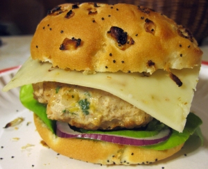 Jalapeno and Cheddar Chicken Burgers