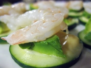 Shrimp and Avocado bites with Wasabi Mayo